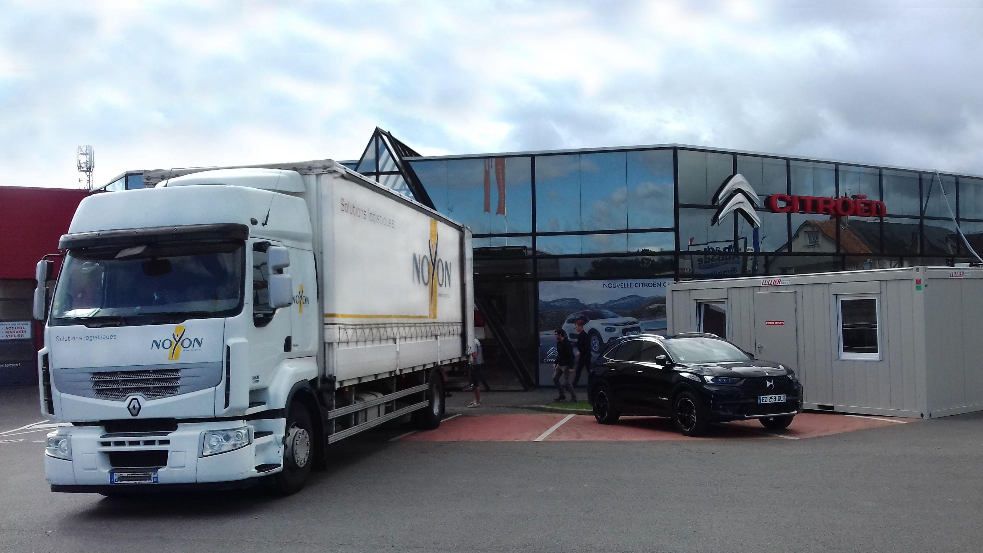 Activités estivales – service non-stop pour NOYON qui déménage une concession Citroen