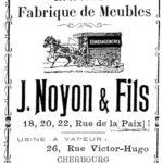 1875 NOYON Publicité pour la fabrication de meubles