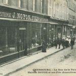 1890 NOYON Le magasin rue de la Paix à Cherbourg